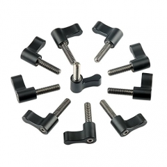 NICEYRIG Black Ratchet Wingnut with M5 thread(18mm) 10pcs Pack
