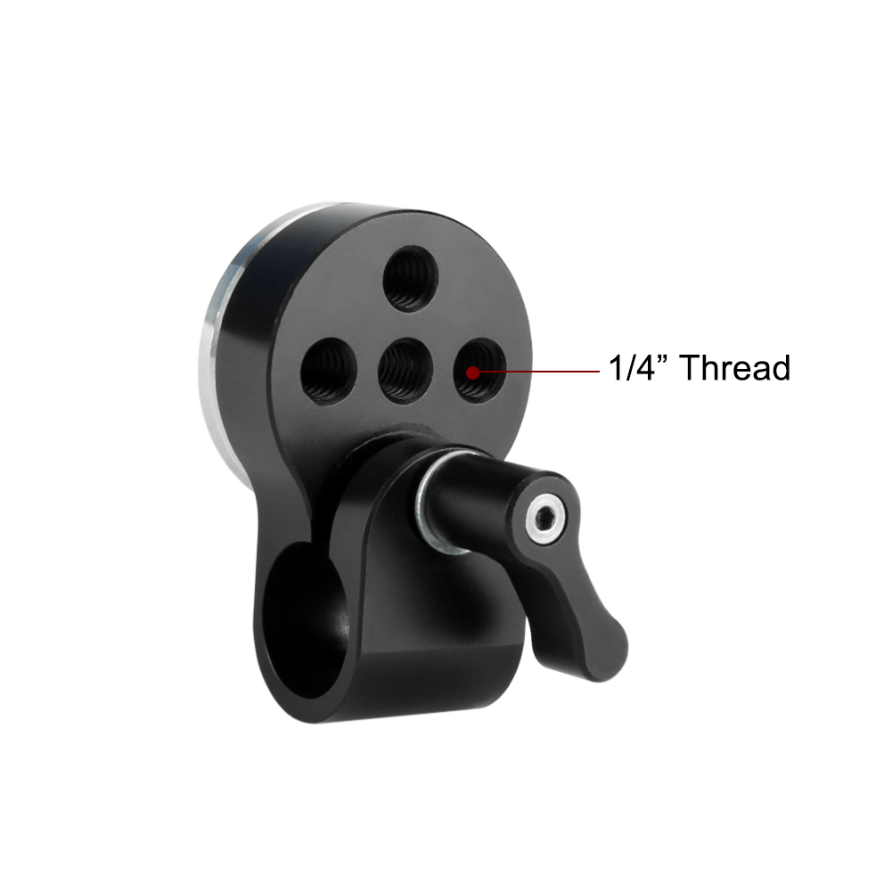 for Video Camera Support System NICEYRIG 15mm Rod Clamp with Rosette Mount Adapter M6 Thread Diameter 31.8mm