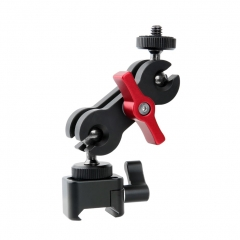 "NICEYRIG NATO Clamp Quick Release with 1/4"" Thread Screw Ballhead Monitor Mount Applicable Filed Monitor, LED Light, Audio Recorders, Camera Cage Rig"