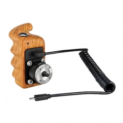 Niceyrig Right Side Wooden Hand Grip with Record Start/Stop Remote Trigger for Sony Mirrorless Cameras