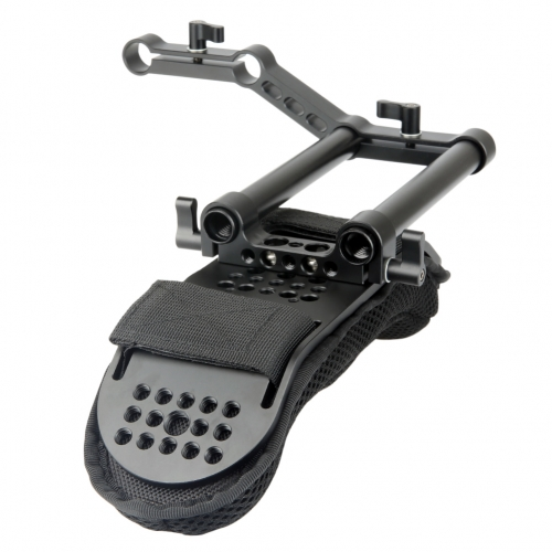 Niceyrig Camera Shoulder Pad with 15mm Railblock and Aluminum Alloy Rods for DSLR Rig Video Camcorder Shoulder Support