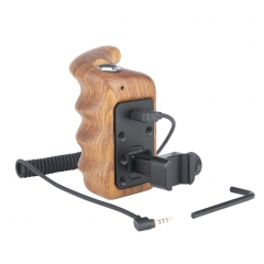 Niceyrig Wooden Hand Grip (Right Side) with Record Start/Stop Remote Trigger for Panasonic Lumix Cameras
