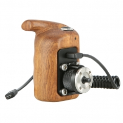 Niceyrig Left Side Wooden Hand Grip with Record Start/Stop Remote Trigger for Sony Mirrorless Cameras 295