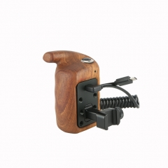 Niceyrig NATO Side Wooden Hand Grip with Record Start/Stop Remote Trigger (Left) for Sony A7RIII/ A7SII/ RX100III/ A6500 Cameras