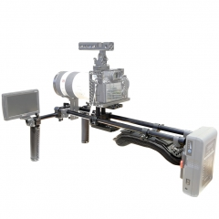 Niceyrig Universal Shoulder Rig Support Film Maker System with Camera/Camcorder Base plate Mount Slider Kit