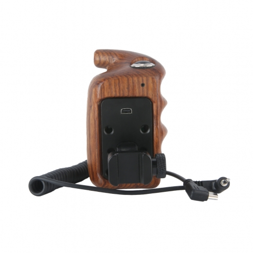 Niceyrig Left Side Wooden Handle Grip with Video Record Start/Stop Remote Trigger for Fujifilm XT-4/XT-3/XT-2